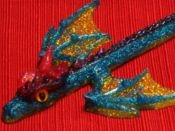Blue / Black Color Mature Dragon